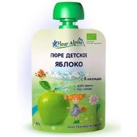 Детское пюре Fleur Alpine ЯБЛОКО 90 гр. Organic для детей с 4 мес.