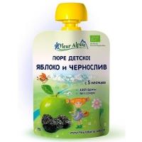 Детское пюре Fleur Alpine ЯБЛОКО и ЧЕРНОСЛИВ 90 гр. Organic для детей с 5 мес.